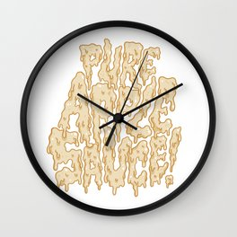 Pure Applesauce!  Wall Clock