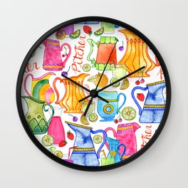 Pitchers & Fruits Wall Clock