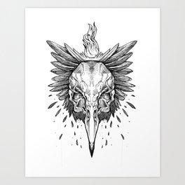 A Raven's Crime Art Print