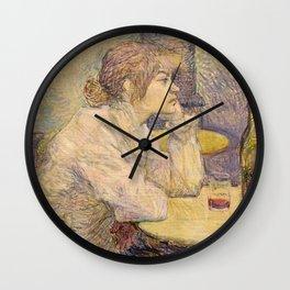 "Henri de Toulouse-Lautrec ""The Hangover (Suzanne Valadon)"" Wall Clock"