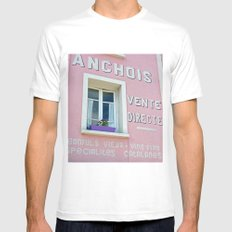Anchovy House MEDIUM White Mens Fitted Tee