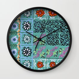 """Country Patchwork (iv)"" by ICA PAVON Wall Clock"