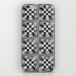 op art - black and white checks bulge iPhone Skin