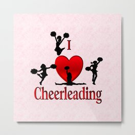 I Heart Cheerleading Metal Print