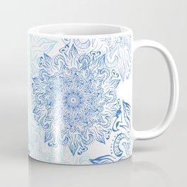 Mandala blue snowflake illustration. Coffee Mug
