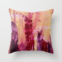 skyline Throw Pillows featuring Skyline by Stephanie Cole CREATIONS