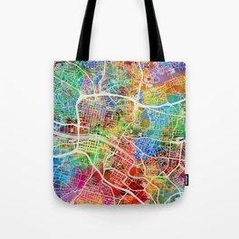 Glasgow Scotland City Street Map Tote Bag