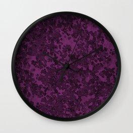Byzantium Purple Hybrid Camo Pattern Wall Clock