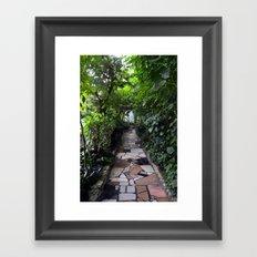 Lush tunnel Framed Art Print