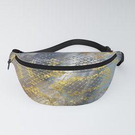 Faux gold snake skin texture on  marble Fanny Pack