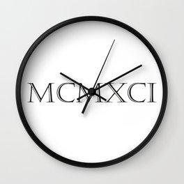 Roman Numerals - 1991 Wall Clock