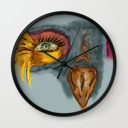 Colorful birdy Wall Clock