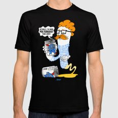 Hipster Ghost Black SMALL Mens Fitted Tee