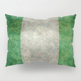 National flag of Nigeria, Vintage retro style Pillow Sham
