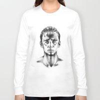 tom hiddleston Long Sleeve T-shirts featuring Tom Hiddleston 3 by aleksandraylisk