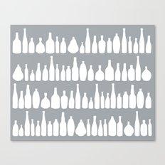 Bottles Grey Canvas Print