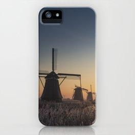 Sunrise at Kinderdijk iPhone Case
