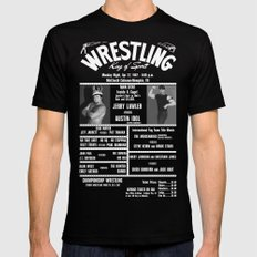 #10-B Memphis Wrestling Window Card SMALL Black Mens Fitted Tee
