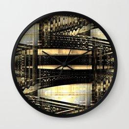 Shiny Metallic Abstract Geometric Wall Clock