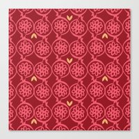 pomegranate Canvas Prints featuring pomegranate by ottomanbrim
