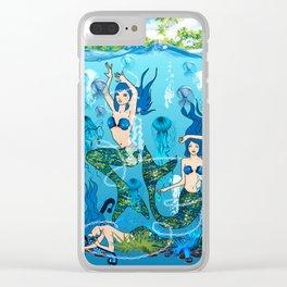 Mermaid Island Clear iPhone Case
