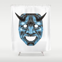 Hannya - low poly Shower Curtain