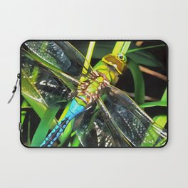 Blue Dragonfly Wings Laptop Sleeve