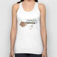 rabbits Tank Tops featuring Camping Rabbits by Emma Traynor