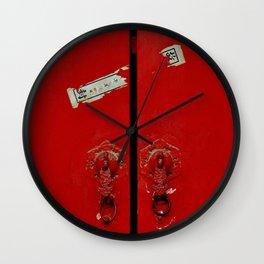 Red Door in the Forbidden City Wall Clock