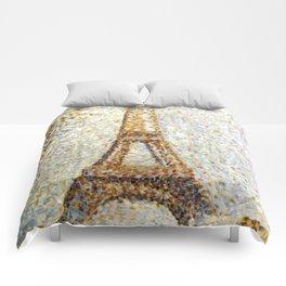 Georges Seurat Eiffel Tower Pointillism Comforters