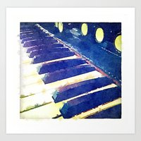 black keys Art Prints featuring black keys by ARTography by TLB