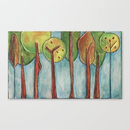 Lollipop Trees 3 Canvas Print