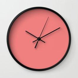 color light coral Wall Clock