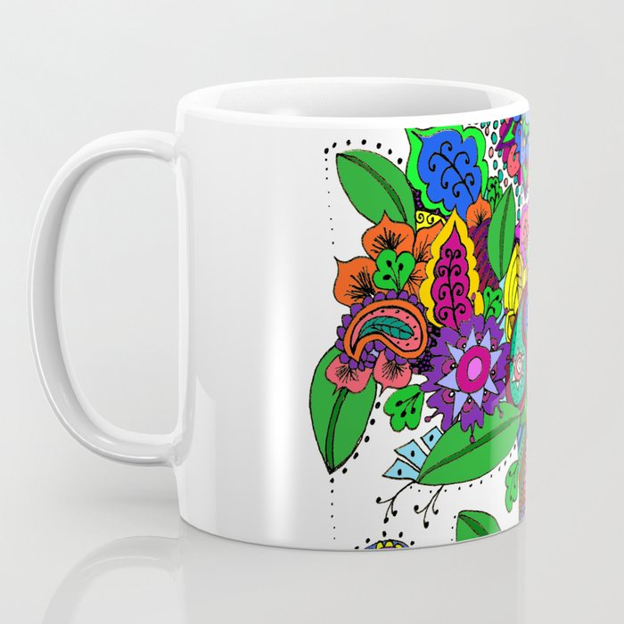 Psychedelic Paisley Tree - on White Background Coffee Mug