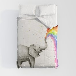 Rainbow Baby Elephant Comforters
