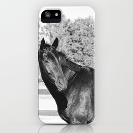 Black & White Bubba iPhone Case