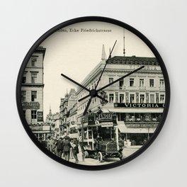1900s Berlin Unter Den Linden Wall Clock