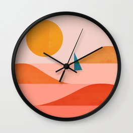 Abstraction_Sailing_Ocean_002 Wall Clock