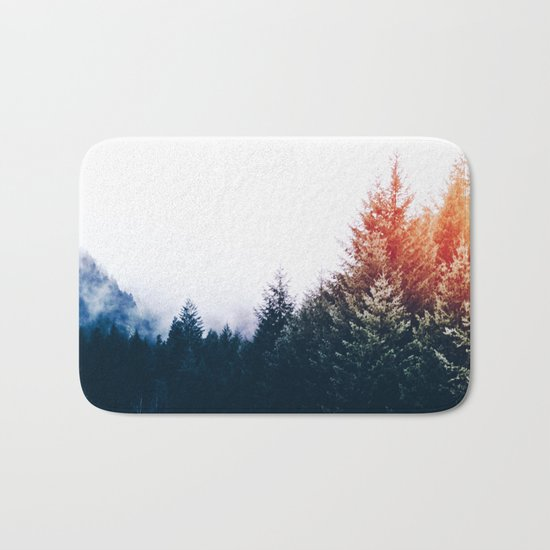 Waking up in a forest Bath Mat