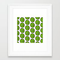 kiwi Framed Art Prints featuring KIWI by Clove