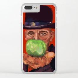 Rick, a la Magritte Clear iPhone Case