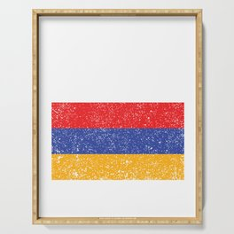 Armenian National Flag Vintage Armenia Country Gift Serving Tray
