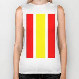 TEAM COLORS 10...YELLOW ,RED Biker Tank