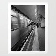 Tube Runner Art Print