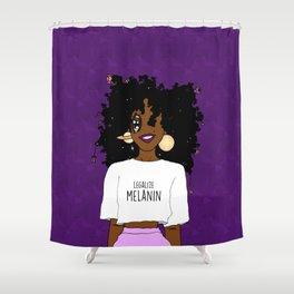 LEGALIZE MELANIN (D) Shower Curtain