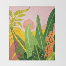 Jungle Morning Throw Blanket