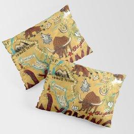 WYOMING map Pillow Sham