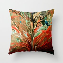 Surreal tree Throw Pillow
