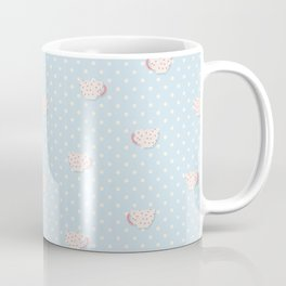 Tea Cup Mask Neck Gator Blue Teacups Coffee Mug