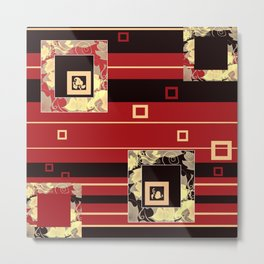 Abstraction. Red chic. Metal Print